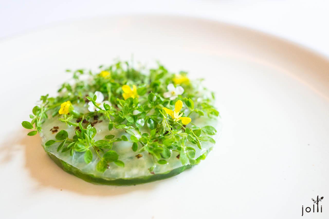腌制鲽鱼-豌豆叶-小花