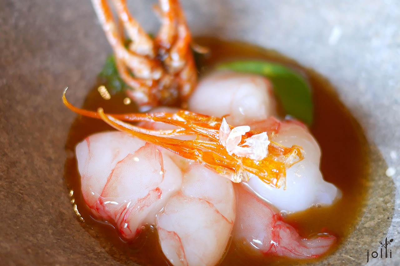 米醋腌制明虾-蝦头汁-脆虾脚-虾肉天鹅绒酱汁