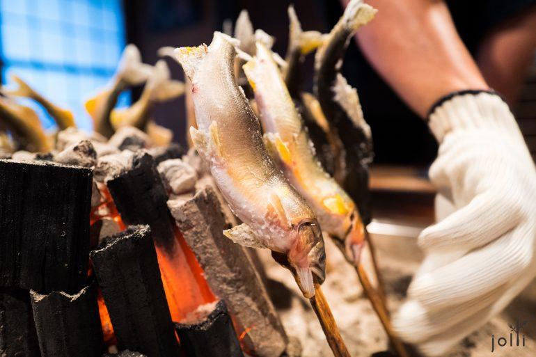 香魚要烤約40分鐘