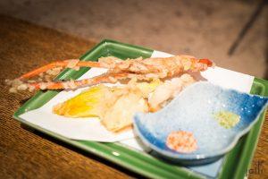 天婦羅川蝦及脆玉瓜花