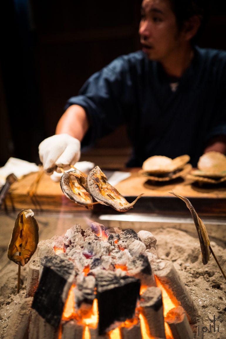 炭烤乾製香魚