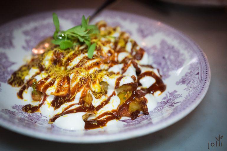馬鈴薯沙拉-鷹嘴豆-羅望子-印度脆麵條