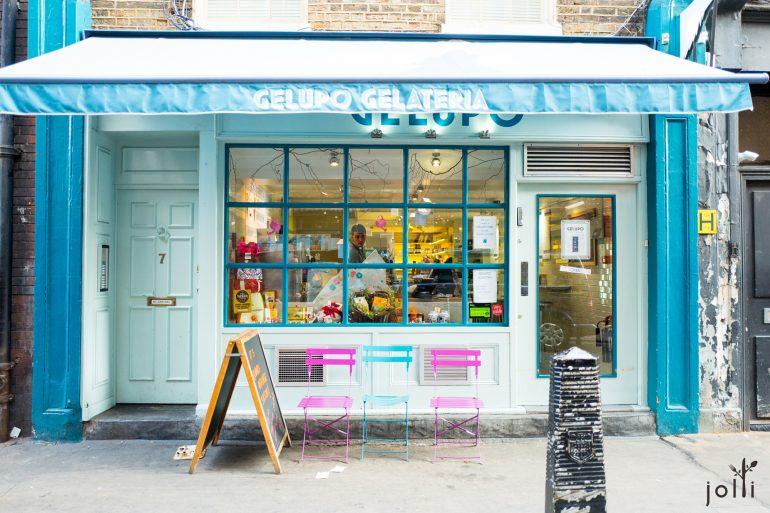 冰淇淋店門口