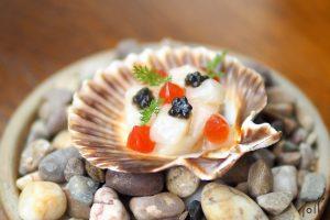 扇貝-魚子醬