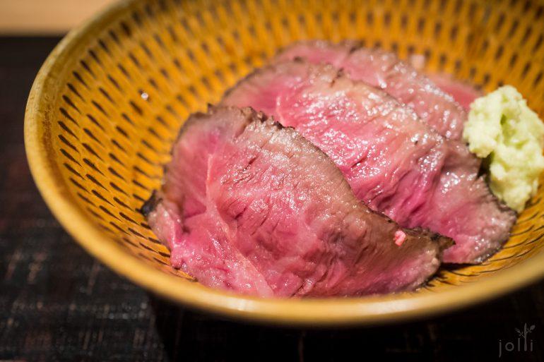 用一星期烹製的靜岡牛肉