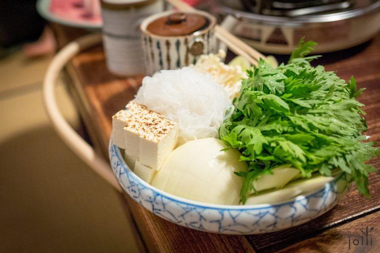 燒豆腐及蔬菜