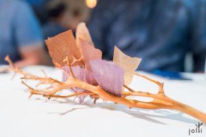 扇贝、紫薯及牛肝菌脆片