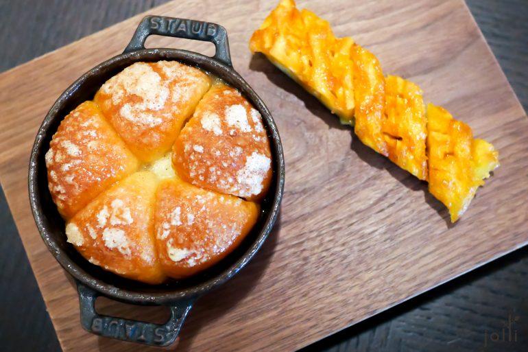 酩酊蛋糕配烤菠蘿