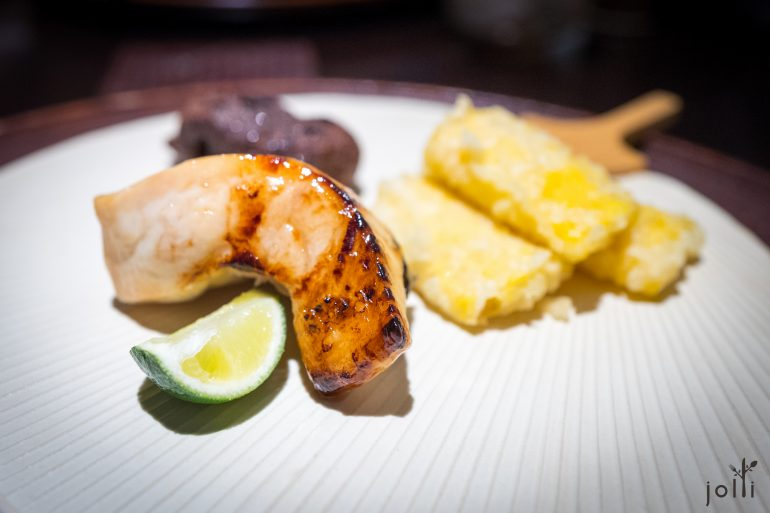 鯛魚-牛蒡糯米糰-玉米