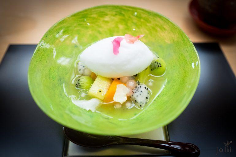 椰子雪葩-西米-五种水果-白酒糖汁