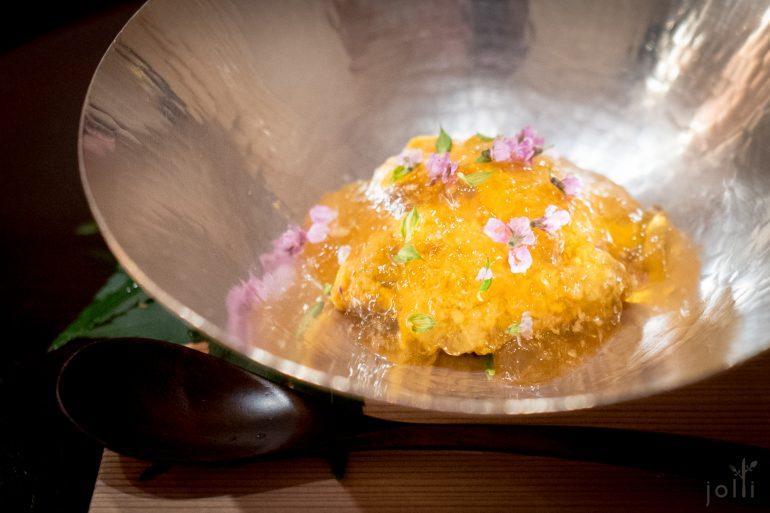 紫海胆配软壳龟果冻