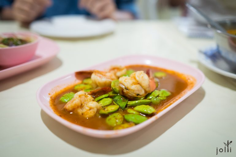 蝦醬辣椒炒臭豆及蝦