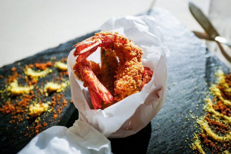炸榛子碎裹蝦