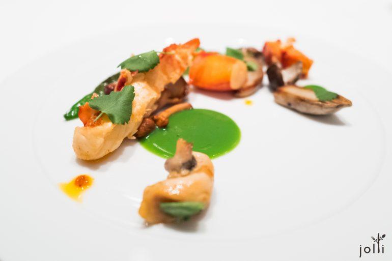 龍蝦-海螺-西蘭花蒜泥-萬願寺唐辛子-牛肝菌菇
