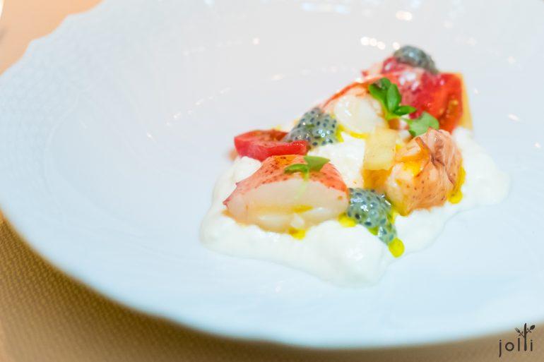 布拉塔起司-番茄-茄子-羅勒-龍蝦