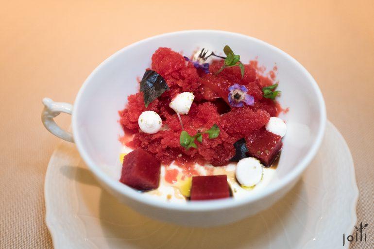 草莓冰沙-草莓果凍-草莓醬-蛋白霜-羅勒