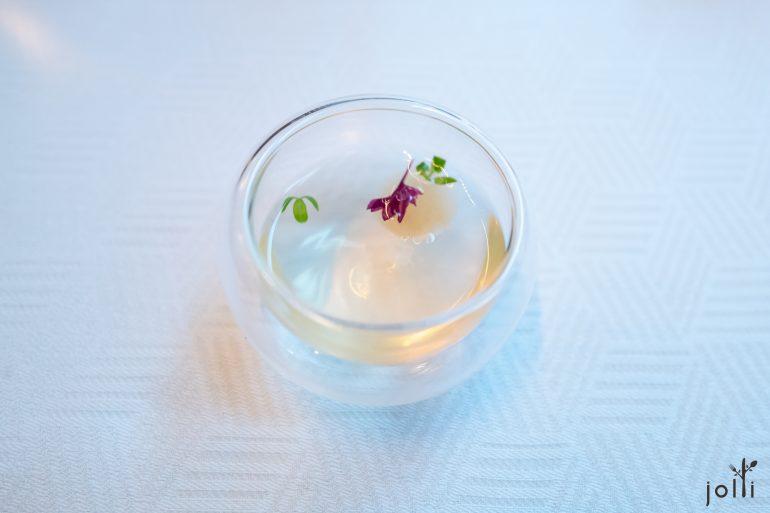 豌豆及柠檬百里香清汤