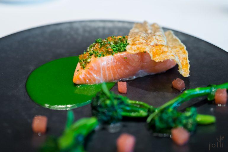 海鱒魚-脆魚皮-海水芹醬汁