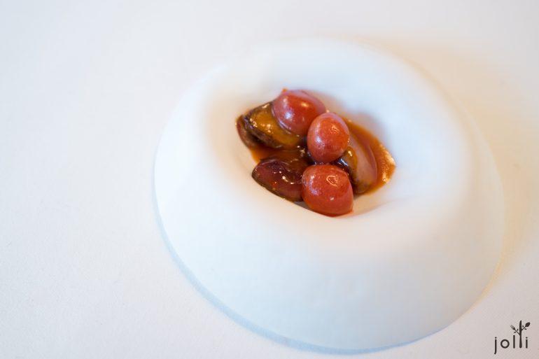 烤歌鸠-番茄味噌-发酵李子