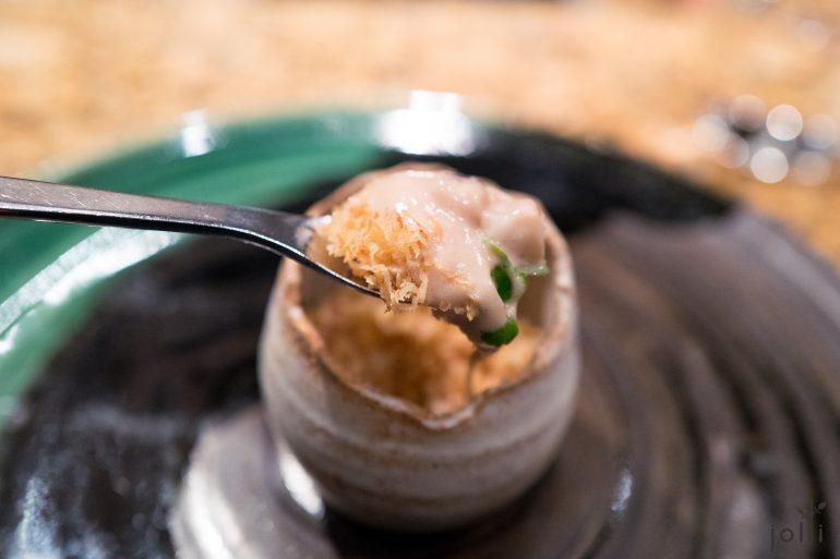 栗子粒跟慕斯佐煙熏五花肉及鰻魚