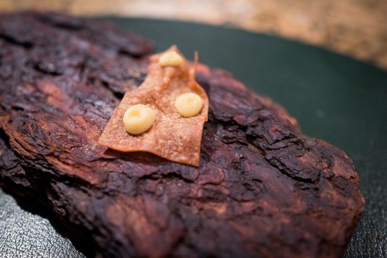 菊芋脆片-松香蛋奶沙司-绣线菊粉