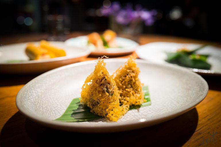 蛋网包虾-杏仁-泰国柠檬