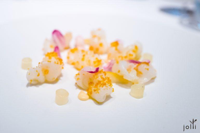 烏賊-烏魚子-日向夏柑橘果凍-美乃滋
