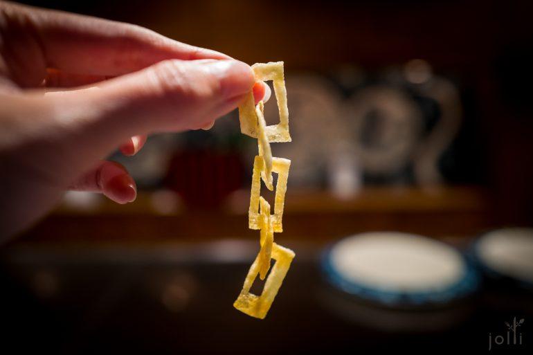 没有接痕的炸土豆锁链