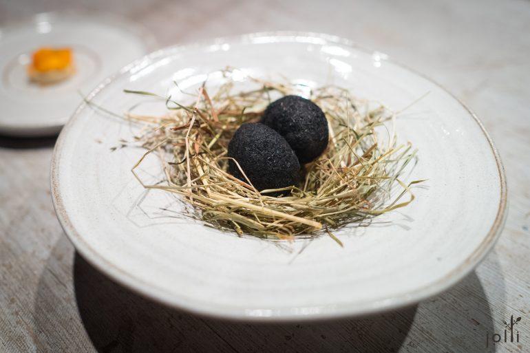 羊粪灰腌制鹌鹑蛋