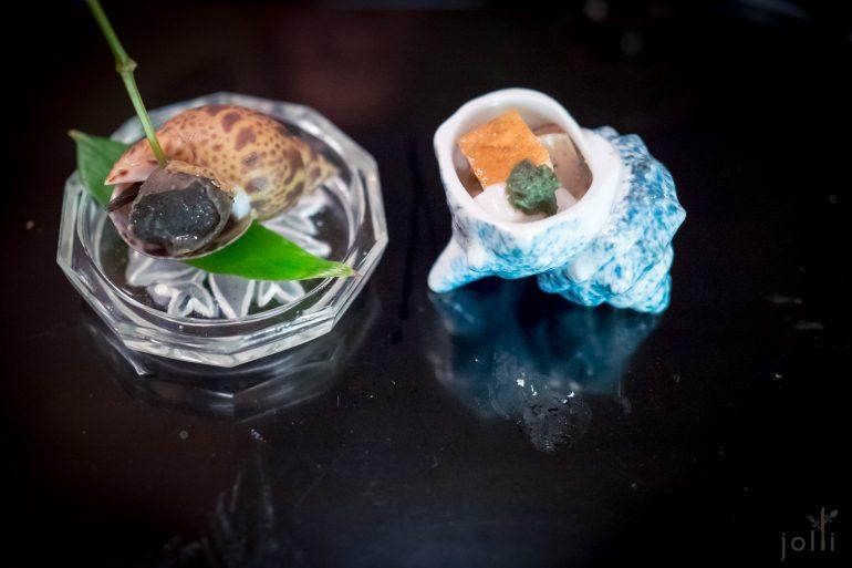 凤螺及鲷鱼的肝、鱼子和白子