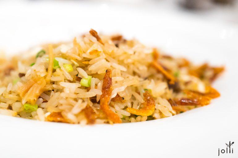 薑米瑤柱櫻花蝦蛋白炒飯
