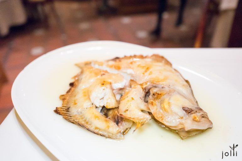 大菱鲆连骨炭烤
