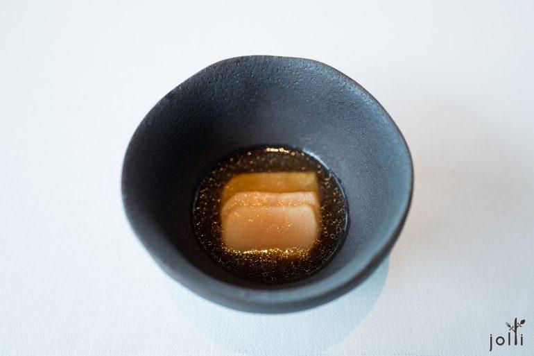 烤扇貝-桂花蜜酒-干貝海帶湯