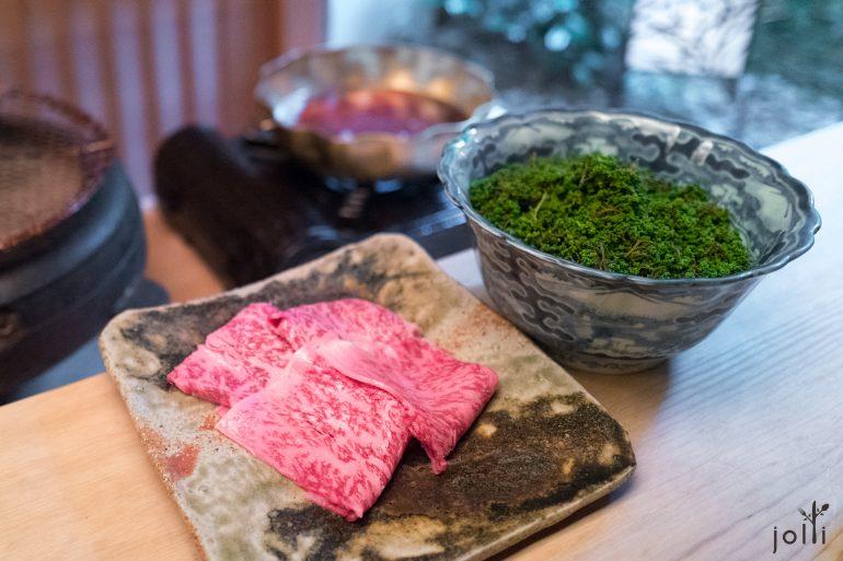 涮佐賀牛肉及花山椒