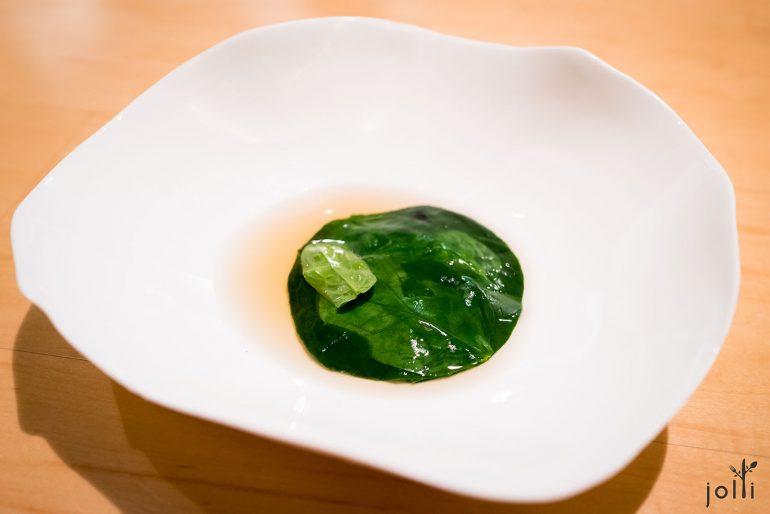 菠菜搭純洋薊湯