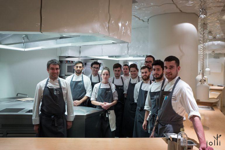 主廚Josean Alija及他的廚師團隊