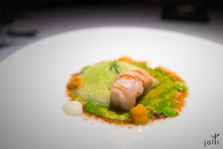 螯虾-伊比利亚猪肉-浮游生物香槟泡沫-海胆-海带