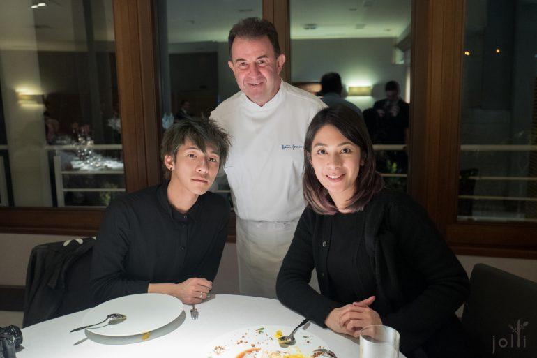跟Martín Berasategui及流浪厨师A合影