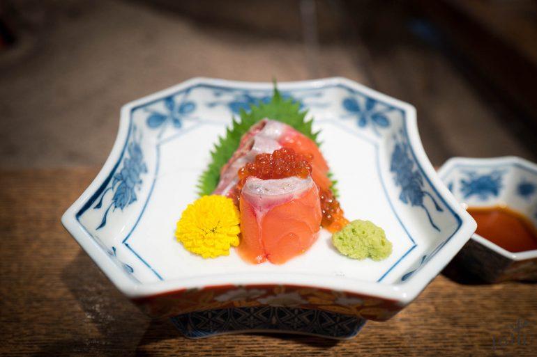 皐月鱒及醬油漬魚子