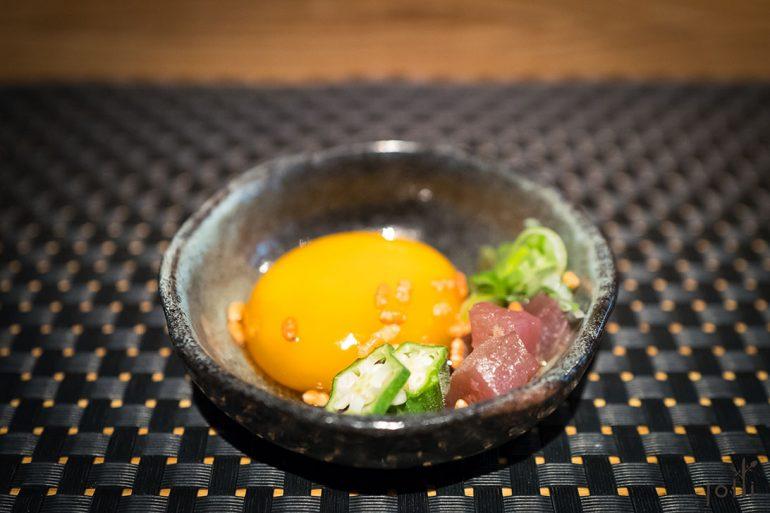 酱油渍蛋黄-米通-秋葵-金枪鱼