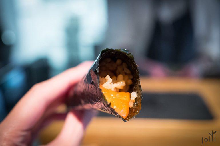 鳟鱼萝卜干手卷