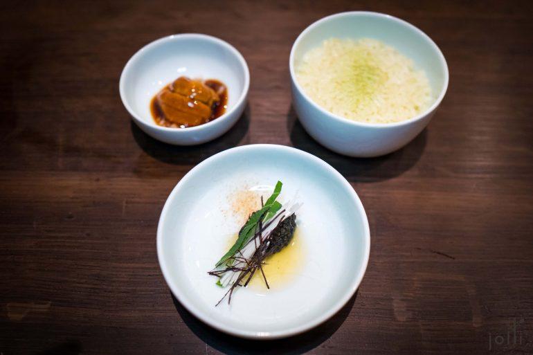 白鱘魚子醬配手壓芝麻油