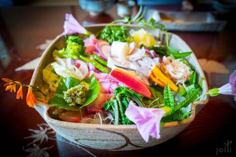 刺身及野菜拼盘