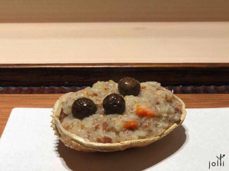 香箱蟹飯配珠芽