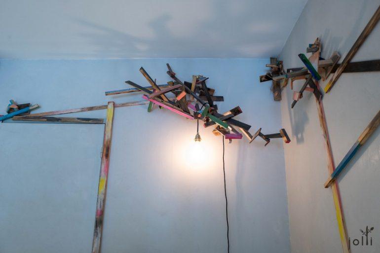 充满艺术感的灯饰装置