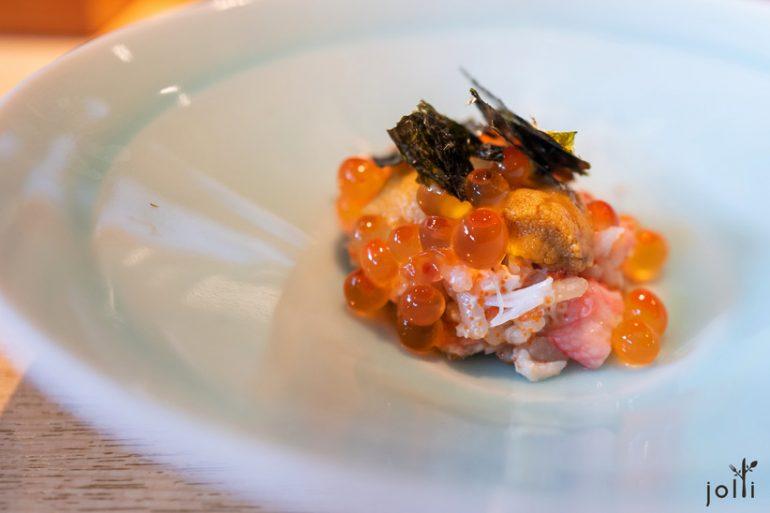 香箱蟹-鲑鱼子-紫海胆饭