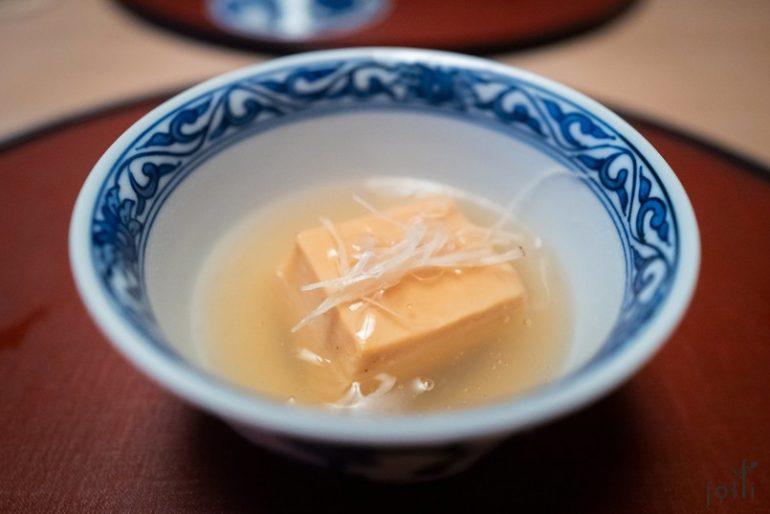 鮟鱇魚肝豆腐佐薑味葛汁