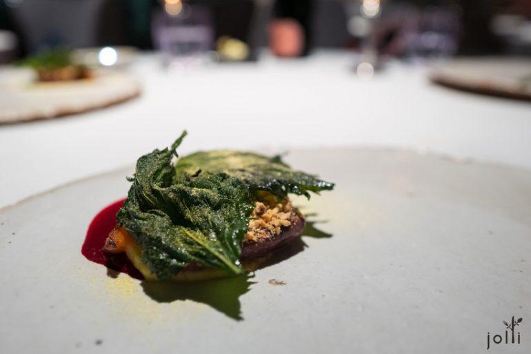 鸽子搭红菜头、紫苏叶及孜然