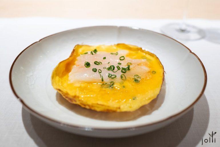 牡丹虾煎蛋饼