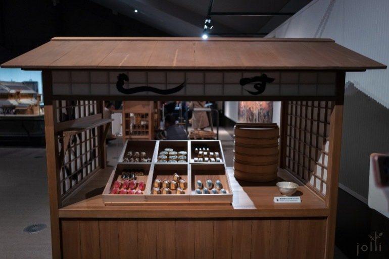 江户时代后期的寿司屋屋台复制品